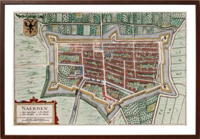 Naarden - Oude kaart van Blaeu