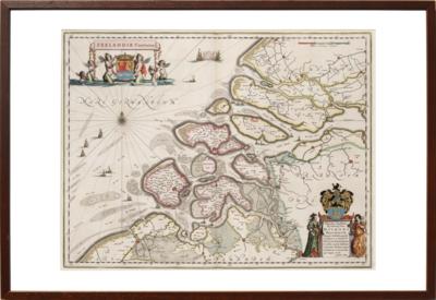 Zeeland - Oude kaart van Blaeu